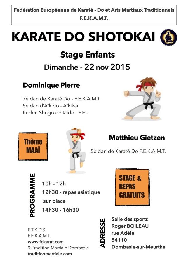 Stage Karaté DO - enfant
