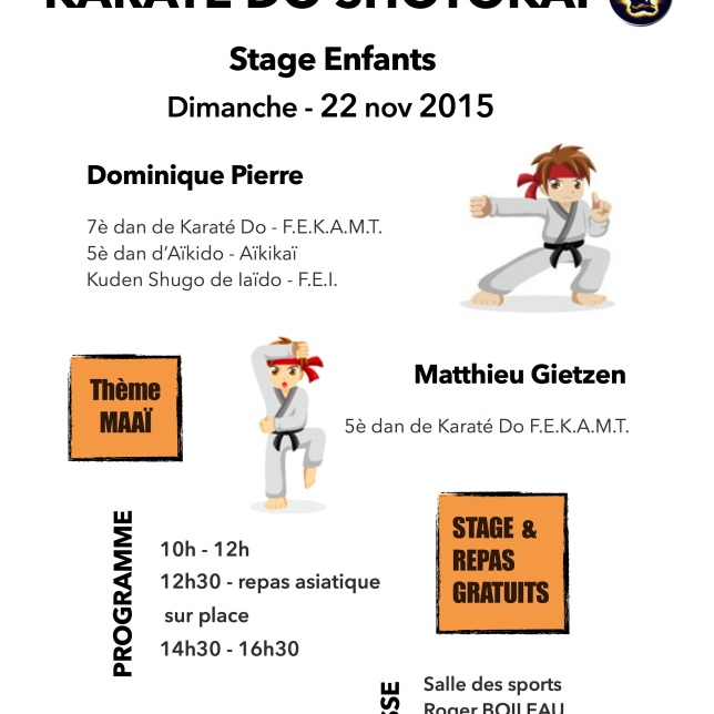 Stage Karaté DO - enfant