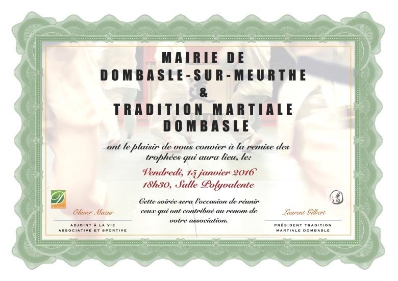 Remise des Trophées 2016 © Tradition Martiale Dombasle
