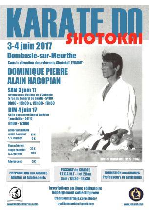 STAGE SHOTOKAI FEKAMT - 3-4 juin 17