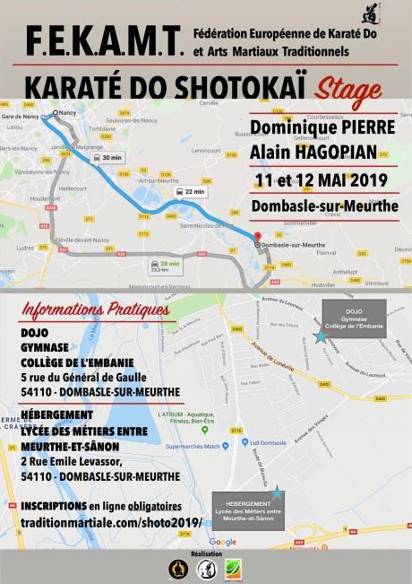 STAGE 1 SHOTOKAI FEKAMT 3 Dombasle - 11-12 mai 2019