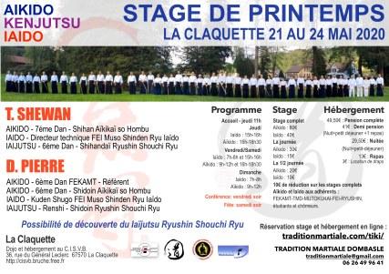 Stg La Claquette-TS et DP 21-24 Mai 2020 - FEKAMT